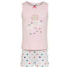Buy John Lewis Girl Horses Shortie Pyjamas, Pink Online at johnlewis.com