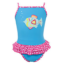 Buy John Lewis Girl Fish Swim Suit, Blue Online at johnlewis.com