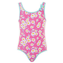 Buy John Lewis Girl Daisy Swim Suit, Fuchsia Online at johnlewis.com