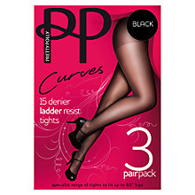 Buy Pretty Polly Curves 15 Denier Ladder Resist Tights, Pack of 3 Online at johnlewis.com