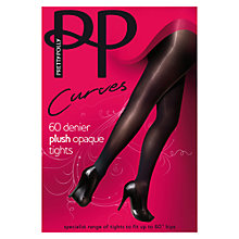 Buy Pretty Polly Curves 60 Denier Plush Opaque Tights, Black Online at johnlewis.com