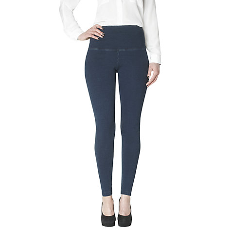 Buy Lyssé Knitted Perfect Wash Ankle Leggings, Denim Online at johnlewis.com