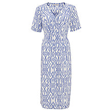 Buy John Lewis Ikat Print Pleat Dress, Blue Print Online at johnlewis.com