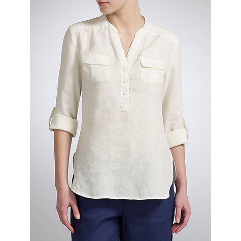Buy John Lewis Linen Safari Tunic Top Online at johnlewis.com