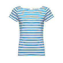 Buy Kin by John Lewis Slashed Neck Striped Top Online at johnlewis.com