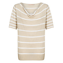 Buy John Lewis Linen Mix Striped Cowl Neck Top Online at johnlewis.com