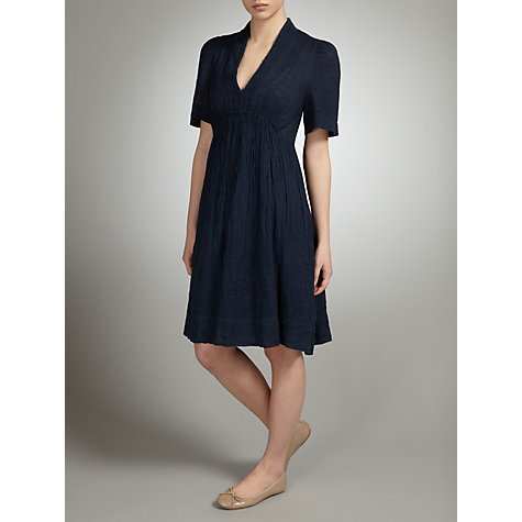 Buy John Lewis V-Neck Linen Dress Online at johnlewis.com