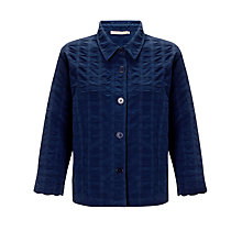 Buy John Lewis Waffle Textured Jacket, Navy Online at johnlewis.com