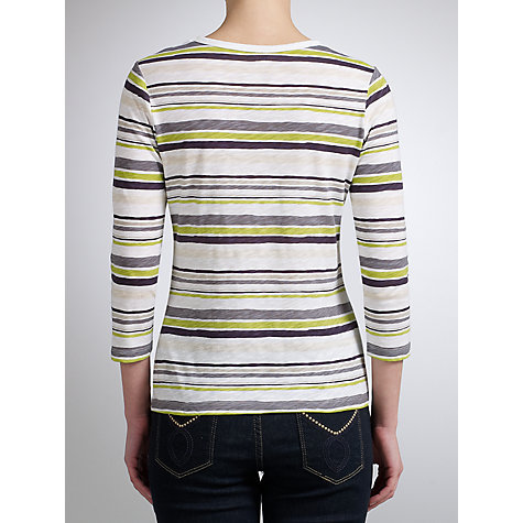 Buy John Lewis 3/4 Sleeve Paint Stripe Slubby Top Online at johnlewis.com