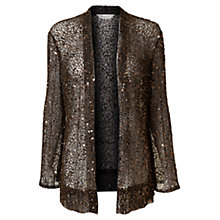 Buy East Diva Sequin Long Cardigan, Black Online at johnlewis.com