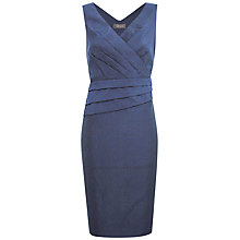 Buy Alexon Cloque Dress, Blue Online at johnlewis.com