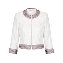 Buy Gina Bacconi Cropped Shimmer Jacket, Oyster Online at johnlewis.com
