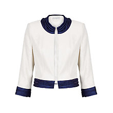 Buy Gina Bacconi Cropped Shimmer Jacket, Navy Online at johnlewis.com