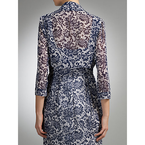 Buy Gina Bacconi Floral Bolero, Navy/White Online at johnlewis.com