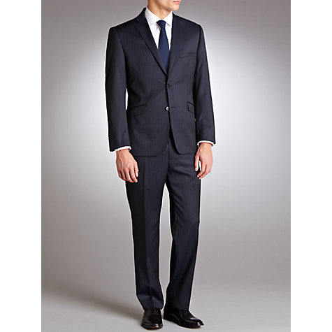 Buy Daniel Hechter Stripe Travel Suit Jacket, Navy Online at johnlewis.com