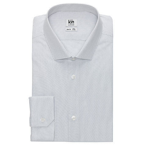 Buy Kin by John Lewis Deacon Ticking Stripe Shirt, Grey Online at johnlewis.com