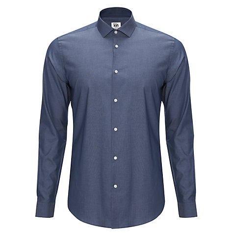Buy Kin by John Lewis Parr Chambray Shirt, Indigo Online at johnlewis.com