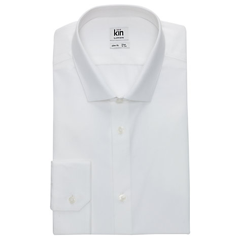 Buy Kin by John Lewis Stamp Dobby Shirt, White Online at johnlewis.com