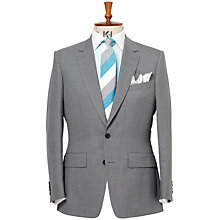Buy Chester Barrie Savile Row Semi Plain Suit, Grey Online at johnlewis.com