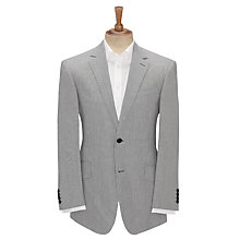 Buy John Lewis Fine Stripe Single Breasted Jacket, Blue Online at johnlewis.com
