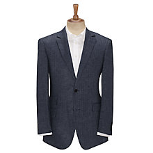 Buy John Lewis Herringbone Jacket, Navy Online at johnlewis.com