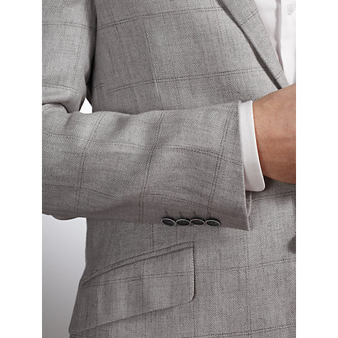 Buy John Lewis Herringbone Overcheck Jacket, Grey Online at johnlewis.com