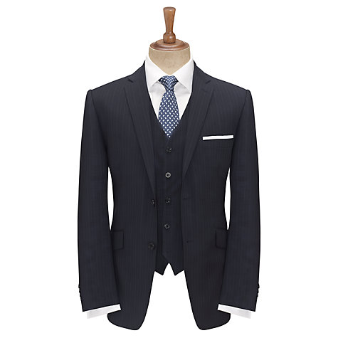 Buy Paul Costelloe Fine Stripe Suit Jacket, Navy Online at johnlewis.com