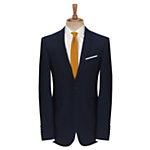 Slim fitting indigo suit