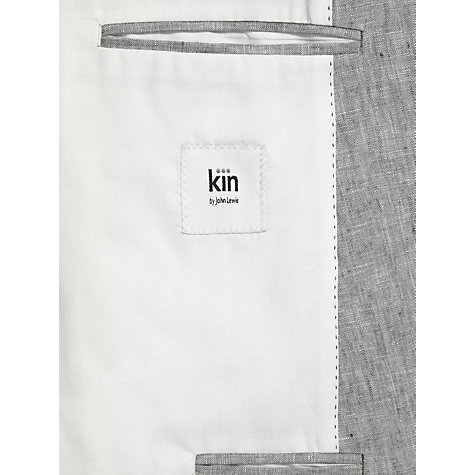 Buy Kin by John Lewis Clark Delave Single Breasted Linen Jacket, Grey Online at johnlewis.com