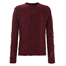 Buy JOHN LEWIS & Co. Twisted Yarn Crew Neck Jumper, Red Online at johnlewis.com