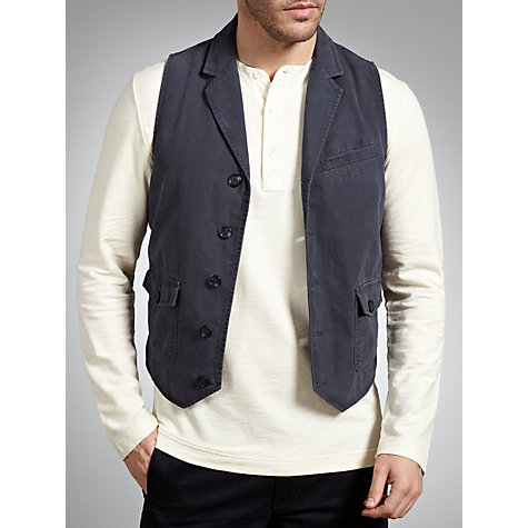 Buy JOHN LEWIS & Co. Work Wear Waistcoat, Navy Online at johnlewis.com