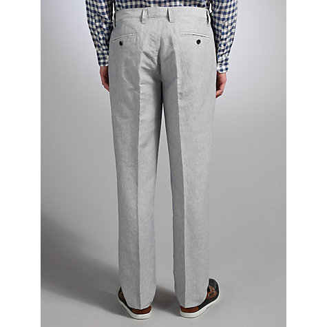 Buy John Lewis Collectable Linen Stripe Trousers, Navy Online at johnlewis.com