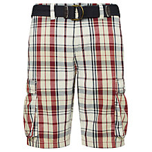 Buy John Lewis Check Cargo Shorts Online at johnlewis.com