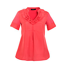 Buy Weekend by MaxMara Jersey Back Ruffle T-shirt, Coral Online at johnlewis.com