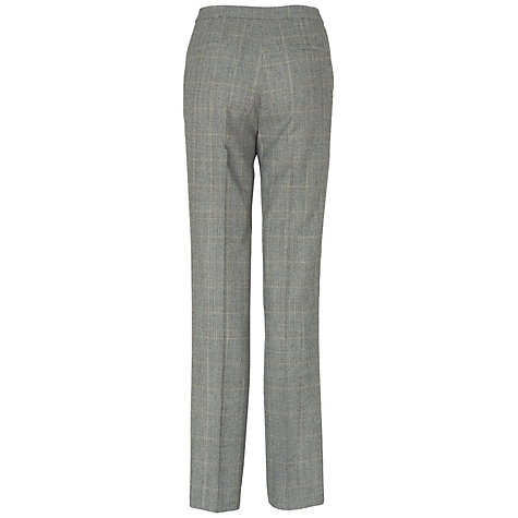 Buy Jaeger Pow Check Trousers, Charcoal Online at johnlewis.com