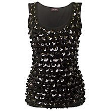 Buy Phase Eight Tess Floral Vest Top, Black Online at johnlewis.com