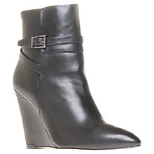 Buy Kurt Geiger Sindy Leather Wedge Heel Ankle Boots Online at johnlewis.com