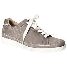 Buy Gabor Amulet Nubuck Lace-Up Trainers, Grey Fumo Online at johnlewis.com
