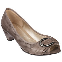 Buy Gabor Binnie Leather Court Shoes Online at johnlewis.com