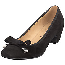 Buy Gabor Law Suede Court Shoes, Black Online at johnlewis.com