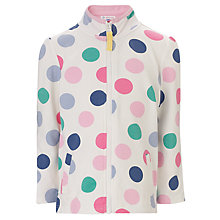 Buy John Lewis Girl Spotted Funnel Neck Zip Through Top, Multi Online at johnlewis.com
