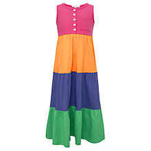 Buy John Lewis Girl Tiered Maxi Dress, Multi Online at johnlewis.com