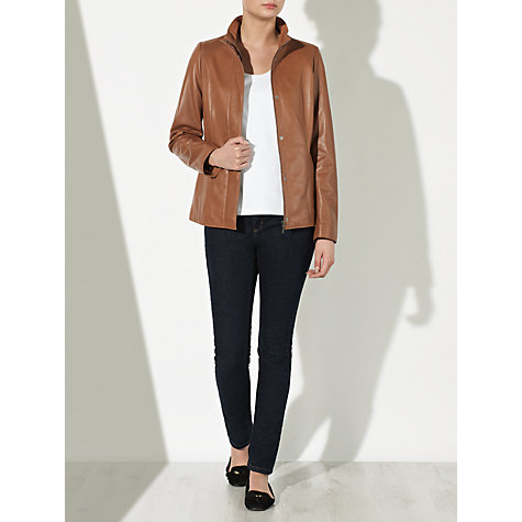 Buy John Lewis Phoebe Leather Jacket Online at johnlewis.com