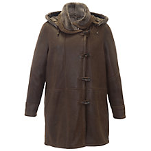 Buy Chesca Sheepskin Duffle Coat, Tobacco Online at johnlewis.com