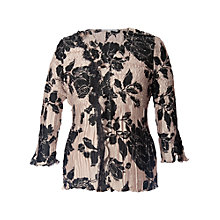 Buy Chesca Rose Print Pleated Top, Black Online at johnlewis.com