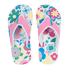 Buy Animal Swish Floral Flip Flops Online at johnlewis.com