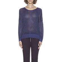 Buy Whistles Corrine Sparkle Jumper, Purple Online at johnlewis.com