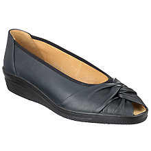 Buy Gabor Forte Leather Shoes, Navy Online at johnlewis.com