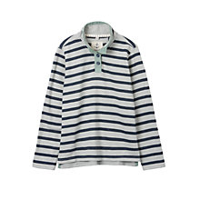 Buy Seasalt Rhythm Button Neck Sweatshirt, Review Indigo Online at johnlewis.com