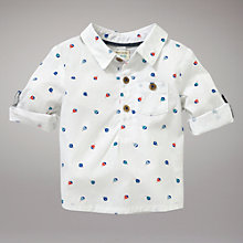 Buy John Lewis Baby Boat Print Shirt, Off White Online at johnlewis.com